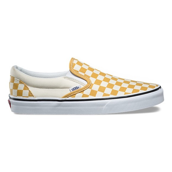 fe157d2c4d Yellow Checkered Vans. M 5b69feed5a9d21b745b21734
